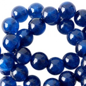 Natuursteen jade ronde kralen 6mm Midnight blue opal