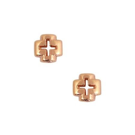DQ kruis Rosé goud (nikkelvrij)