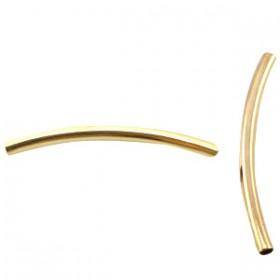 DQ Buisje 2.5 x 35mm goud