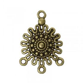 Connector antiek brons van 1 naar 3 gaatjes