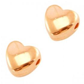 DQ metalen kraal hartje Rose Gold (nikkelvrij)
