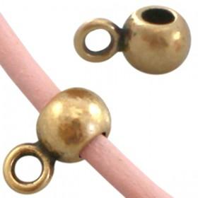 DQ Ring met oog voor 2mm leer Antiek Brons ( nikkelvrij )