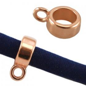 DQ Ring met oog voor 5mm leer Rosé Goud ( Nikkelvrij )