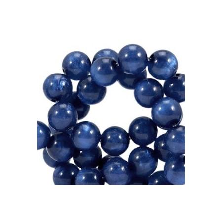 Polaris kralen rond 6mm pearl shine Radiant blue