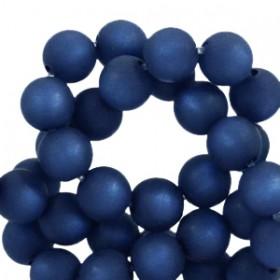 Polaris kralen rond 6mm matt Radiant blue