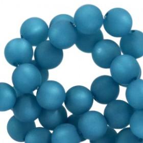 Polaris kralen rond 6mm matt Mosaic blue