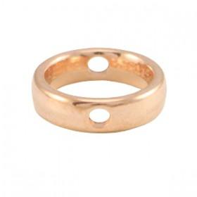 DQ metaal kraal 12mm Rosé goud (nikkelvrij)