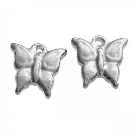 Bedeltje vlinder Antiek zilver