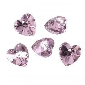 Glas hanger hart Pink