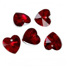 Glas hanger hart Red