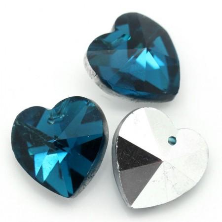 Glas hanger hart Blue