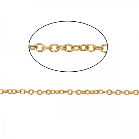 RVS Ketting 2x1.6mm gold plated
