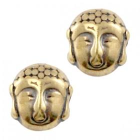 Kralen DQ metaal Buddha Antiek brons (nikkelvrij)