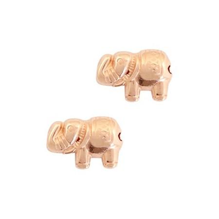 Kralen DQ metaal olifant Rosé goud (nikkelvrij)