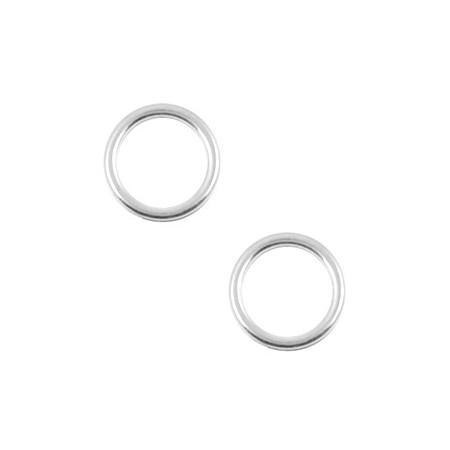 Bedels DQ metaal cirkel 12mm Antiek zilver (nikkelvrij)