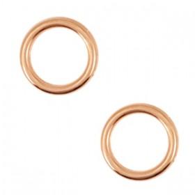 Bedels DQ metaal cirkel 12mm Rosé Goud (nikkelvrij)