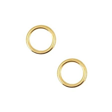 Bedels DQ metaal cirkel 12mm Goud (nikkelvrij)