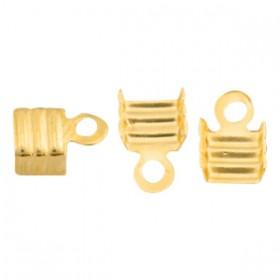 DQ metaal veterklem 3mm Goud (nikkelvrij)