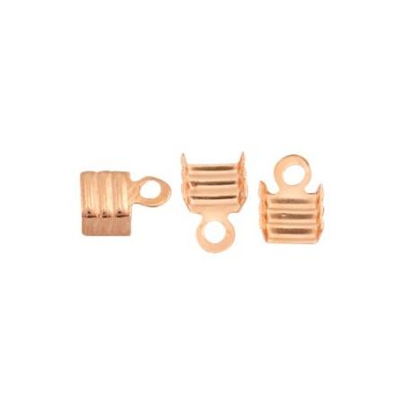 DQ metaal veterklem 3mm Rosé goud (nikkelvrij)