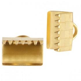 DQ metaal veterklem 10mm Goud (nikkelvrij)