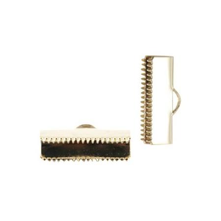 DQ metaal veterklem 20mm Goud (nikkelvrij)