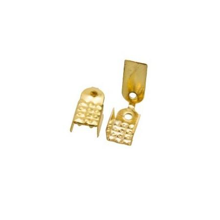 Basic veterklemmetje goudkleur 9x5mm