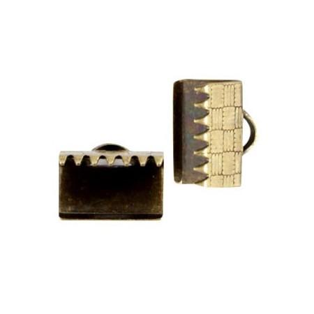DQ metaal veterklem 10mm Antiek brons (nikkelvrij)
