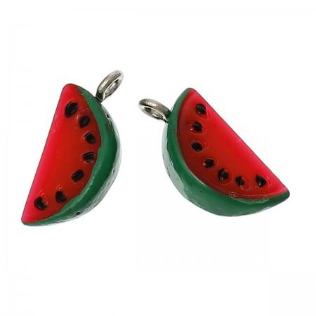 Resin Charm Watermeloen