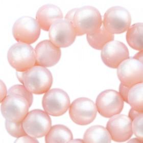 Super Polaris kralen rond 6mm Powder pink