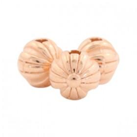 DQ Metalen kraal bal 6mm Rosé goud (nikkelvrij)