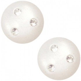 cabochon 12mm Super Polaris 3 Swarovski steentjes Antique white