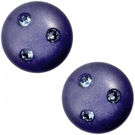 cabochon 12mm Super Polaris 3 Swarovski steentjes Midnight blue