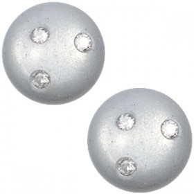 cabochon 12mm Super Polaris 3 Swarovski steentjes Ice grey