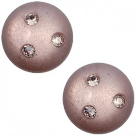 cabochon 12mm Super Polaris 3 Swarovski steentjes Greige