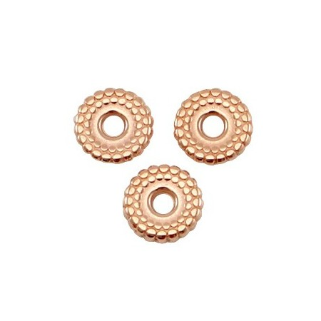 DQ metalen spacer disc 8mm deco Rosé goud (nikkelvrij)