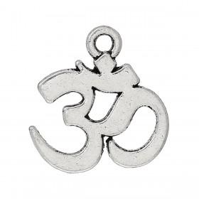 Bedeltje Ohm-teken zilver