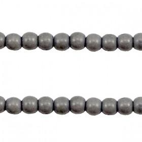 Keramiek turquoise kralen rond 4mm Donker grijs