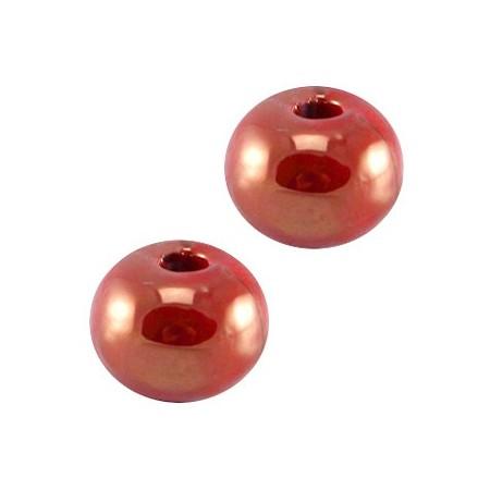 DQ griekse keramiek kraal 8mm Red - gold