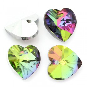 Glas hanger hart Rainbow