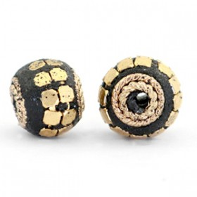 Indonesische Kraal 12mm Black-gold