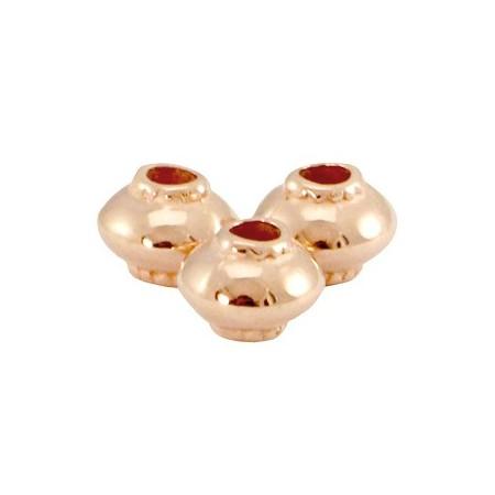 DQ metaal kraal cone Rosé goud (nikkelvrij)