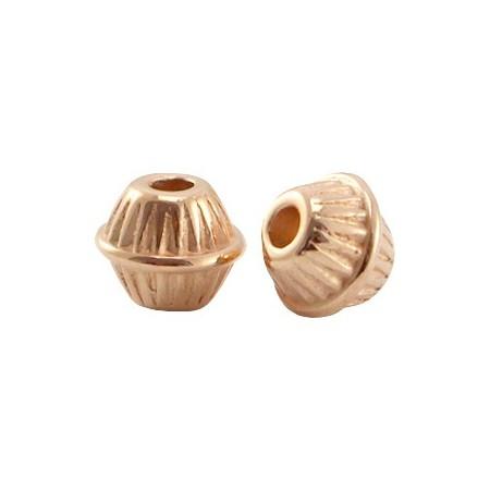 DQ metaal kraal cone ball Rosé goud (nikkelvrij)