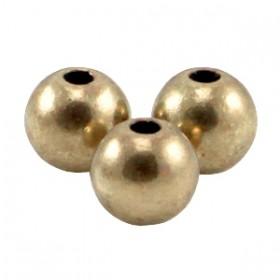 DQ metaal kraal rond 6mm Antiek brons (nikkelvrij)