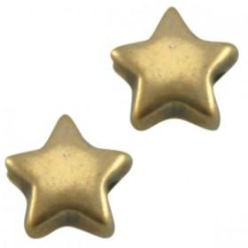 DQ metaal ster 6 mm Antiek Brons ( nikkelvrij )