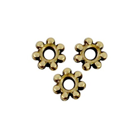 DQ metaal kraal spacer Bali ring 4.8mm Antiek brons (nikkelvrij)