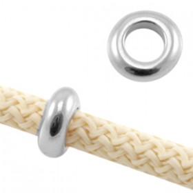 DQ metaal ring voor 5 mm koord Antiek zilver
