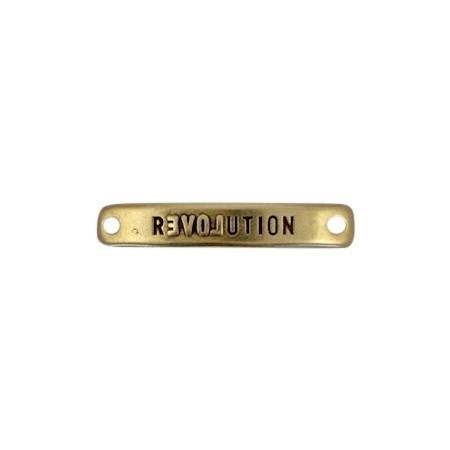 Bedels DQ metaal tussenstuk bar Revolution Antiek brons (nikkelvrij)