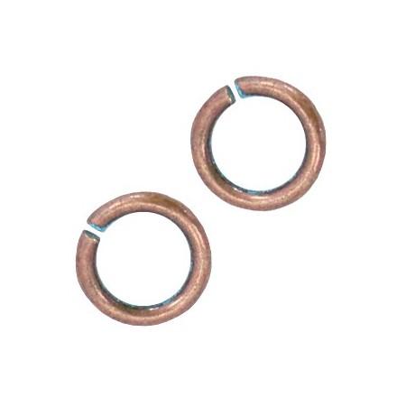 DQ metaal buigring 6.5mm Koper patina (nikkelvrij)