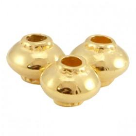 DQ metaal kraal cone Goud (nikkelvrij)