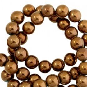 Hematite kralen rond 4mm Dark Rosegold